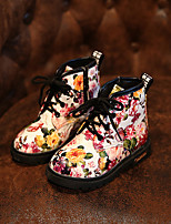 Girls' Shoes Dress / Casual Comfort / Combat Boots Leatherette Boots Black / White