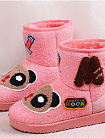 Women's Shoes Low Heel Round Toe Boots Casual Black / Pink / Gray