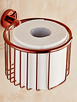 Toilet Paper Holder , Neoclassical Rose Gold Wall Mounted