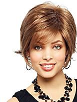 magnífico corto ondulado virginal mano sin tapa cabello humano remy atado peluca superior de la mujer