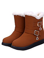 Women's Shoes Low Heel Round Toe Boots Casual Black / Brown