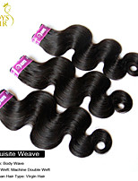 3Pcs Lot Indian Virgin Hair Body Wave Wavy 100% Human Hair Weave Bundles Cheap Indian Remy Hair Extensions Natural Black