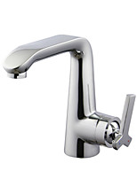 ENZORODI Bathroom Lavatory Basin Sink Faucet Tap  Single Handle Brass Chrome ERF173107C