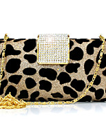Women's Bag Fashion Luxury Diamante Leopard Print Eneving Bag Europe Style Casual Bride Bag Clutch Bag