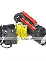LT  2 Mode 6000 Lumens LED Flashlights 18650  Cree XM-L2