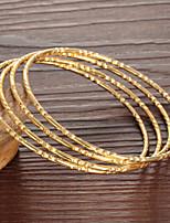 Women's Chain Bracelet 18K Gold Plated Non Stone 4 Pieces/set