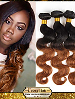 7A Grade dark root ombre two tone 1b/30 body wave hair weaving weft extension women ombre hair weave