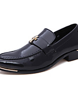 Men's Oxfords Comfort Bullock shoes Cowhide Wedding Office & Career Black/Red/Brown/Blue
