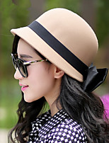 Women Fashion Bow Small Bowler Hat