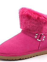 Women's Shoes Suede Flat Heel Snow Boots / Fashion Boots Boots Outdoor / Party & Evening / Casual Brown / Red / Taupe