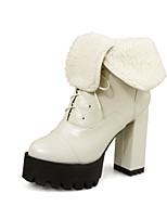 Women's Shoes  Chunky Heel Fashion Boots Boots Party & Evening / Dress / Casual Black / Yellow / Red / Beige