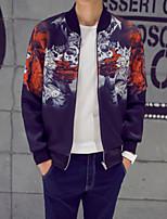 Men's Long Sleeve Jacket , Nylon Casual Print
