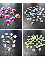 100PCS  Flat Diamond White Green Blue Red Stick Drill Nail Art