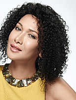10-28inch In Stock Kinky Curly Brazilian Virgin Human Hair Front Lace Wig For Black Women