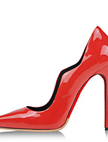Women's Shoes Patent Leather Stiletto Heel Heels / Pointed Toe Heels Wedding / Party & Evening / Dress Red