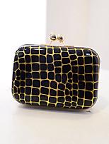 Women PVC Baguette Cosmetic Bag - White / Pink / Green / Gold / Black