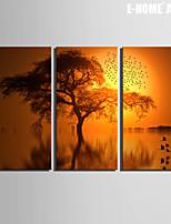 Paisaje Impresión de la lona Tres Paneles Listo para colgar , Vertical