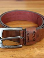 Men PU Waist Belt , Vintage / Casual Gold