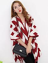 Women's Color Block Blue / Pink / Red / Black Cardigan , Vintage Long Sleeve