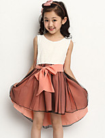Girl's Pink / Yellow Dress , Lace Polyester Summer / Spring / Fall