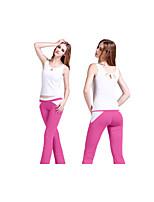 Yoga Sets de Prendas/Trajes Pantalones + TopsTranspirable / Materiales Ligeros / Elástico / Reductor del Sudor / Copas Extraíbles /