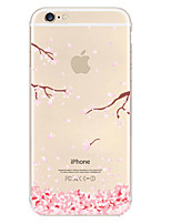 Para Funda iPhone 6 / Funda iPhone 6 Plus Transparente / Diseños Funda Cubierta Trasera Funda Flor Suave TPUiPhone 7 Plus / iPhone 7 /