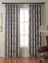 (One Panels) Bedroom Living Room Study Room Environmental Polyester Jacquard Curtain