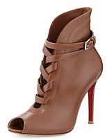 Women's Shoes Leatherette Stiletto Heel Heels / Peep Toe / Pointed Toe Heels Wedding / Party & Evening Black