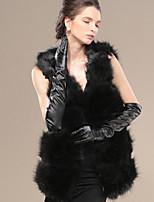 Women Faux Fur / PU Top , Lined