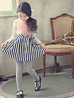 Girl's Pink Dress , Bow / Stripes Others Winter / Spring / Fall