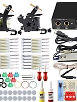 ITATOO® Machine Tattoo Gun Kits 5ML Yellow Red Pigment 8 Wrap Tattoo Machines and Power Supply