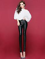 Women PU / Fleece Lined Legging , PU Medium