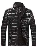 Qiu dong men new warm cotton-padded clothes Fashion city leisure man leather