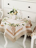 Embroidery/Classical Cotton Tablecloth.   Christmas Tablecloth 85*85cm(34*34 inch)
