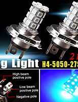 2X H4 HB2 9003 Ultra Blue 5050 Tri-cell 27-SMD Fog Driving Daytime Running Light