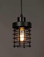 E14 10*18CM Line 1M  Retro Circle Of Single Head Lamps And Lanterns Character Art Chandelier Led Lamp
