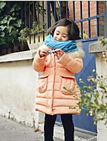 Rembourré Coton Fille de Hiver Polyester Bleu / Orange