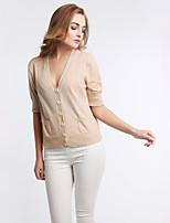 Women's Autumn Winter Fashion Blouse  Plus Size V-Neck Sexy Casual Cotton Knitting Cardigan Coat