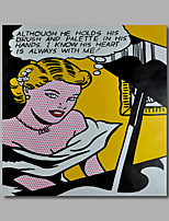 Hand-Painted Oil Painting on Canvas Home Deco Pop Art Girls Lady Playing Piano One Panel Ready to Hang