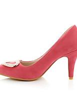 Women's Shoes Leatherette Stiletto Heel Heels Heels Outdoor / Dress / Casual Yellow / Pink / Purple