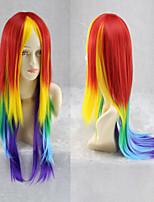Women's Cosplay My Little Pony Rainbow Dash Multi Color Heat Resistant Wig