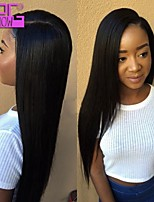 New Arrival 130% Density Silky Straight Malaysian Lace Front Wig With Baby Hair