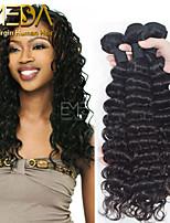 3pcs/Lot Unprocessed Virgin Indian Hair Deep Wave Human Hair Extensions Natural Black 8''-30'' Human Hair Weaves