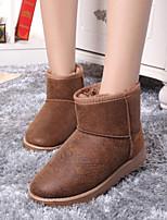 Women's Shoes Low Heel Round Toe Boots Casual Brown / Beige