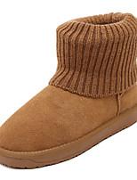 Zapatos de mujer - Tacón Cuña - Punta Redonda - Botas - Casual - Ante - Negro / Marrón / Gris