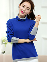 Women's Comfort Soft Heaps Collar Long Sleeve Elegant Pullover