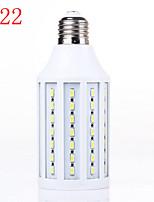 15W 5730 b22 majs lampor är varmvit vita plastskal kan användas som kraftkälla med konstant spänning ledde (AC220V)