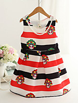 Girl's Fashion Simplicity  Cotton Blend   Fall/Spring  Beijing Opera  Facebook Printing Jumper Skirt Princess Dress