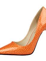 Women's Shoes Leatherette Stiletto Heel Heels Heels Dress / Casual Pink / Red / Gray / Beige / Bone