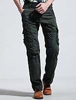 2015 men more pockets cotton overalls men fashion leisure trousers slacks